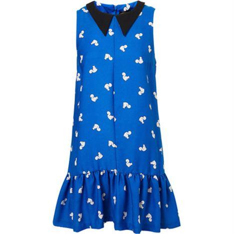 Squirrel Print Collar Dress