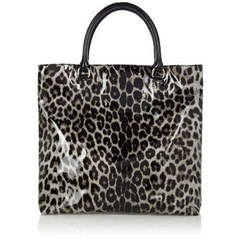 Black & White Leopard Print Tote