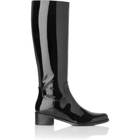 Arla Patent Leather Knee High Riding Boot
