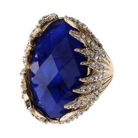 Cobalt Blue Cocktail Ring