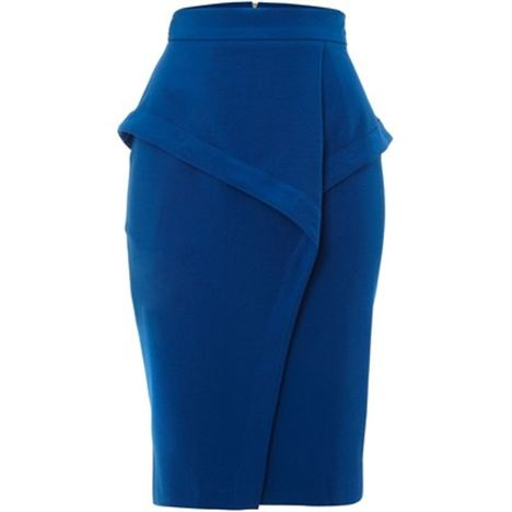 Aysmmetric Peplum Skirt