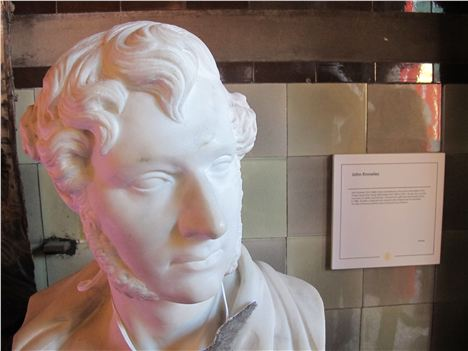 John Knowles bust in Manchester Town Hall, by an unknown artist, but rather better than the one of Shakespeare on the Theatre Royal