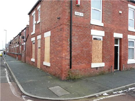 Street corner blight