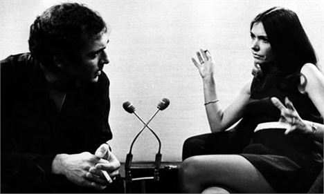 Joan Bakewell being interviewed in the 1960s
