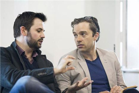 From left: Playwright Matt Charman and actor Hadley Fraser