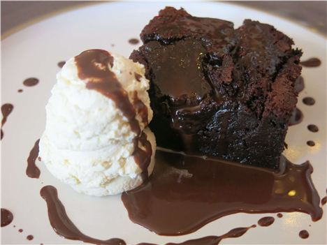 Chocolate Brownie, Vanilla Ice Cream
