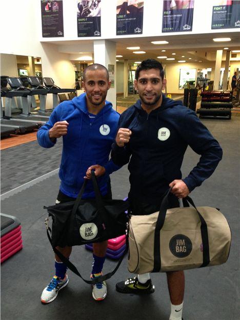 Amir Khan with his Jim Bag