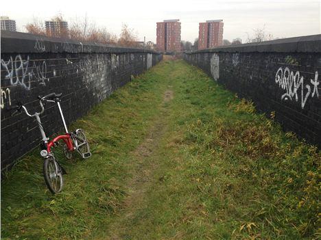 Bridge and Brompton Bike