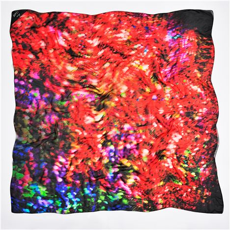 Laura Orchant jewel scarf in red