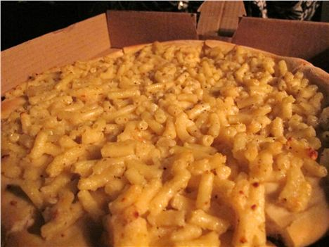 The mac'n'cheese pizza ran-away with the 'Yellowest Ever Food' gong