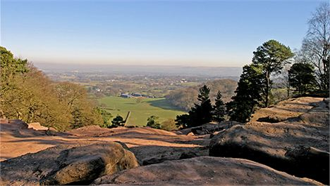 Alderley Edge looking north towards Manchester