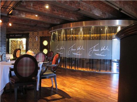 Interior of James Martin - the restaurant, not the man himself