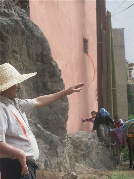 One Of Our Guides, Omar Points The Way