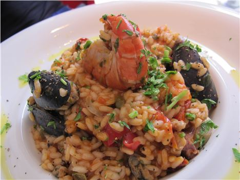 Seafood risotto - rammed with flavour