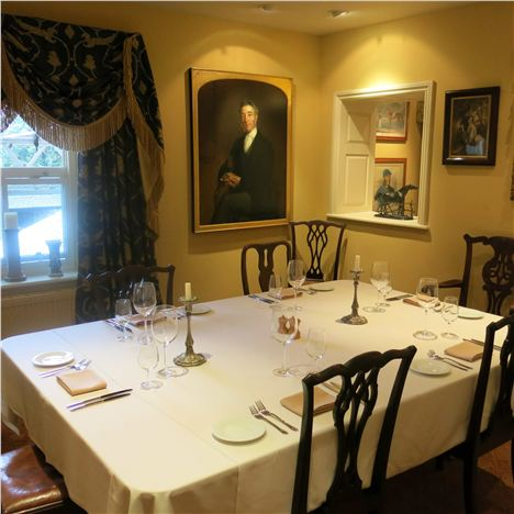 The formal dining room upstairs