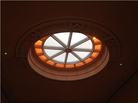 The oculus above the stairwell to let light in