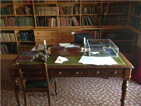 William's desk in the study