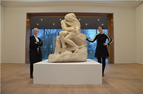 Maria Balshaw, Cornelia Parker and the latter's Rodin's Kiss %28with strings attached%29